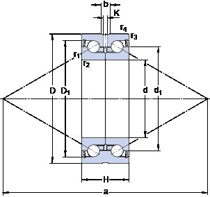 SKF BEAS 008032-2RS Rolamentos de esferas de impulso
