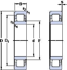 110 mm x 200 mm x 53 mm  SKF NU 2222 ECN1ML Rolamentos de esferas de impulso