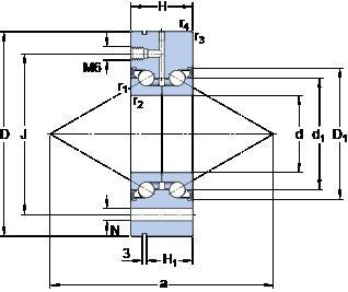 SKF BEAM 020068-2RZ/PE Rolamentos de esferas de impulso