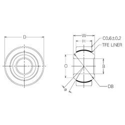 4 mm x 14 mm x 4 mm  NMB SBT4 Rolamentos simples