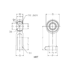 20 mm x 45 mm x 20 mm  NMB HRT20 Rolamentos simples