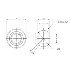 12 mm x 26 mm x 12 mm  NMB MBW12CR Rolamentos simples