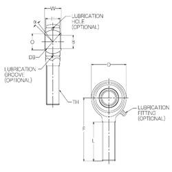 20 mm x 45 mm x 20 mm  NMB HR20E Rolamentos simples