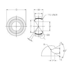 20 mm x 36 mm x 20 mm  NMB MBT20V Rolamentos simples