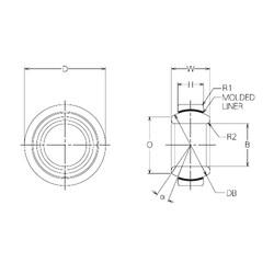 25 mm x 42 mm x 20 mm  NMB BM25 Rolamentos simples