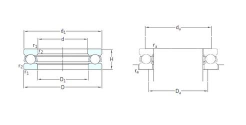 SKF 51256M Rolamentos de esferas de impulso