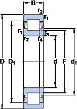 90 mm x 160 mm x 30 mm  SKF NUP 218 ECM Rolamentos de esferas de impulso