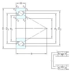 30 mm x 62 mm x 16 mm  SKF BSA 206 CG Rolamentos de esferas de impulso