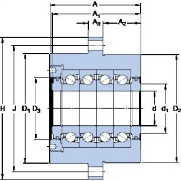 SKF FBSA 205/QFC Rolamentos de esferas de impulso