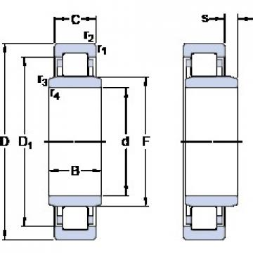 100 mm x 180 mm x 46 mm  SKF NUB 220 ECJ Rolamentos de esferas de impulso