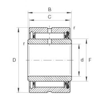15 mm x 28 mm x 14 mm  INA NA4902-RSR Rolamentos de agulha