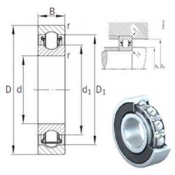 60 mm x 95 mm x 18 mm  INA BXRE012-2RSR Rolamentos de agulha