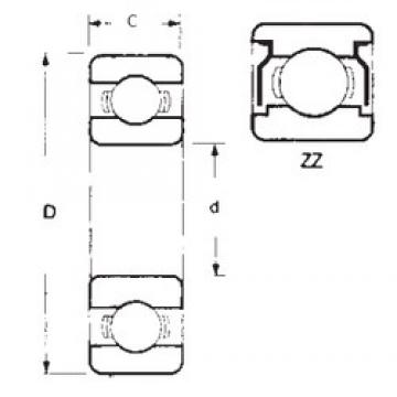15,875 mm x 41,275 mm x 12,7 mm  FBJ 1628ZZ Rolamentos de esferas profundas