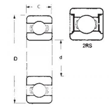 15,875 mm x 34,925 mm x 11,1125 mm  FBJ 1623-2RS Rolamentos de esferas profundas