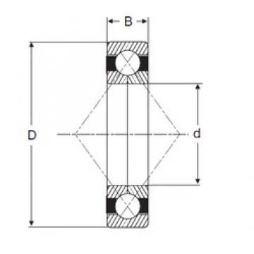 25,4 mm x 63,5 mm x 19,05 mm  SIGMA QJM 1 Rolamentos de esferas de contacto angular