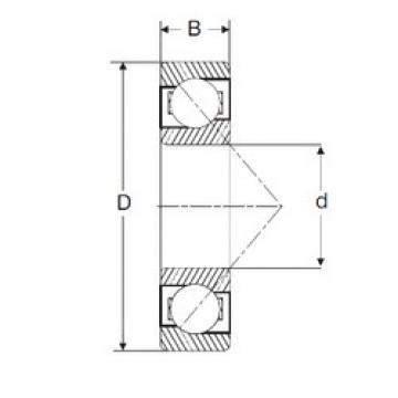 25,4 mm x 63,5 mm x 19,05 mm  SIGMA MJT 1 Rolamentos de esferas de contacto angular