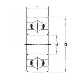 3,175 mm x 12,7 mm x 4,366 mm  FBJ R2A Rolamentos de esferas profundas