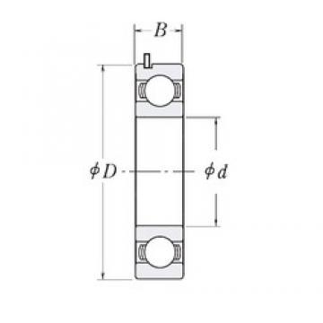 20 mm x 47 mm x 14 mm  FBJ 6204 JRW3 C3 Rolamentos de esferas profundas