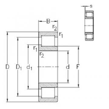 100 mm x 215 mm x 73 mm  NKE NJ2320-VH Rolamentos cilíndricos