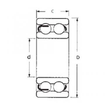 10 mm x 30 mm x 14 mm  FBJ 4200 Rolamentos de esferas profundas