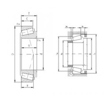 100 mm x 145 mm x 22,5 mm  ZVL T4CB100 Rolamentos de rolos gravados
