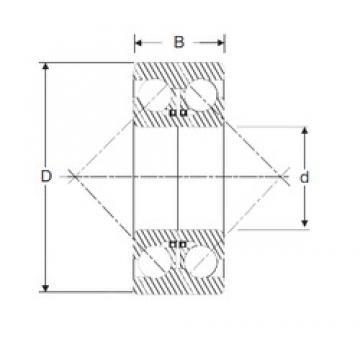 40 mm x 90 mm x 36,5 mm  SIGMA 3308 D Rolamentos de esferas de contacto angular