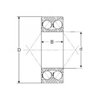 40 mm x 90 mm x 36,5 mm  SIGMA 3308 Rolamentos de esferas de contacto angular