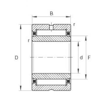 340 mm x 420 mm x 80 mm  INA NA4868 Rolamentos de agulha