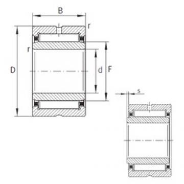 100 mm x 130 mm x 40 mm  INA NKI100/40-XL Rolamentos de agulha