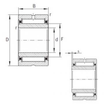 55 mm x 72 mm x 35 mm  INA NKI55/35-XL Rolamentos de agulha