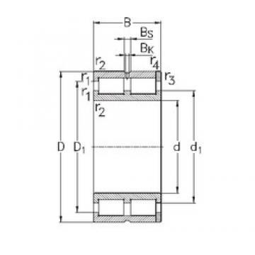 110 mm x 150 mm x 40 mm  NKE NNC4922-V Rolamentos cilíndricos
