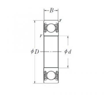 12,45 mm x 28 mm x 8 mm  FBJ 6001-2RS/12,45 Rolamentos de esferas profundas