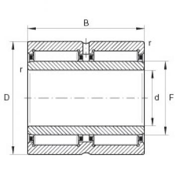 40 mm x 62 mm x 40 mm  INA NA6908-ZW Rolamentos de agulha