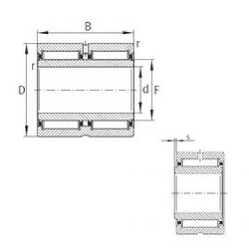 95 mm x 130 mm x 63 mm  INA NA6919-ZW-XL Rolamentos de agulha