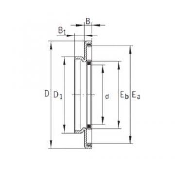 40 mm x 63 mm x 4,2 mm  INA AXW40 Rolamentos de agulha
