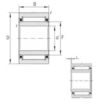 6 mm x 16 mm x 12 mm  INA NKI6/12-TN-XL Rolamentos de agulha