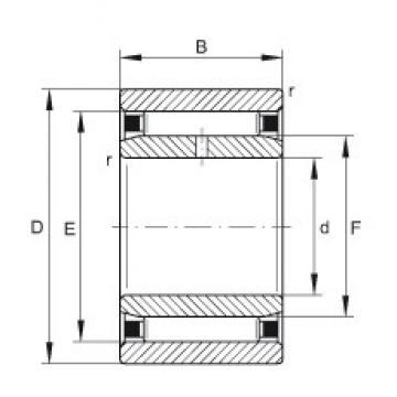 6 mm x 17 mm x 10 mm  INA NAO6X17X10-TV-IS1 Rolamentos de agulha