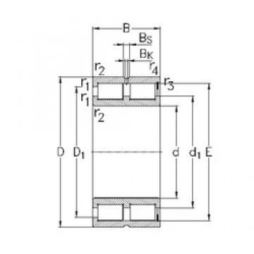 55 mm x 90 mm x 46 mm  NKE NNCF5011-V Rolamentos cilíndricos
