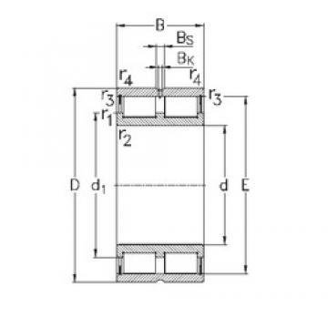 180 mm x 225 mm x 45 mm  NKE NNCL4836-V Rolamentos cilíndricos