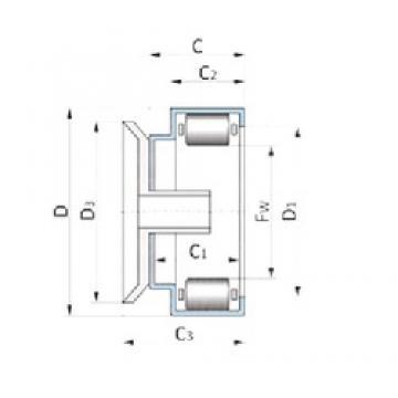 INA F-207727.3 Rolamentos de agulha