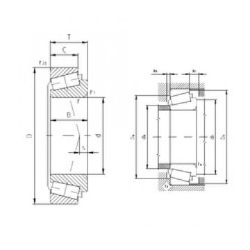 34,925 mm x 73,025 mm x 24,608 mm  ZVL PLC65-3 Rolamentos de rolos gravados