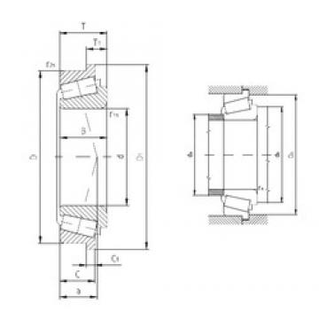 31.75 mm x 61,98 mm x 19,05 mm  ZVL BT1-0343A/Q Rolamentos de rolos gravados