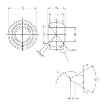 20 mm x 35 mm x 20 mm  NMB MBW20VCR Rolamentos simples