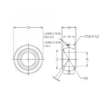 25 mm x 45 mm x 25 mm  NMB MBG25CR Rolamentos simples