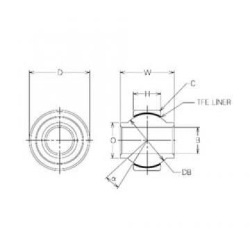 10 mm x 23 mm x 10 mm  NMB MBYT10 Rolamentos simples