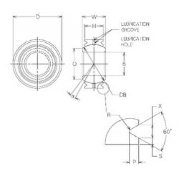 30 mm x 56 mm x 30 mm  NMB MBG30VCR Rolamentos simples
