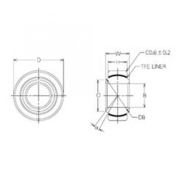 8 mm x 19 mm x 8 mm  NMB MBT8 Rolamentos simples