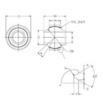 22 mm x 44 mm x 22 mm  NMB MBYT22V Rolamentos simples