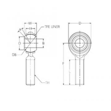 22 mm x 50 mm x 22 mm  NMB RBT22E Rolamentos simples