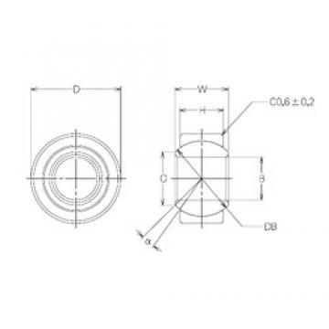 20 mm x 35 mm x 20 mm  NMB MBW20CR Rolamentos simples